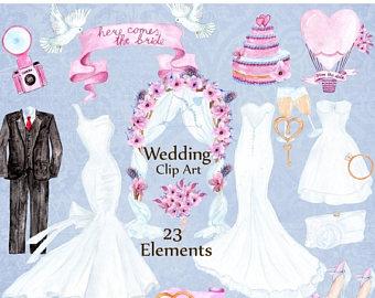 Gown clipart wedding ring Ring Wedding Dress Set