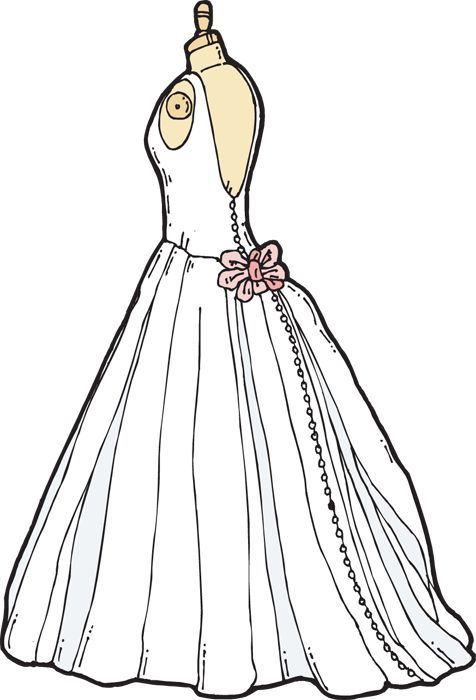 Bride clipart gown Ribbon Wedding STUFF Free Grab