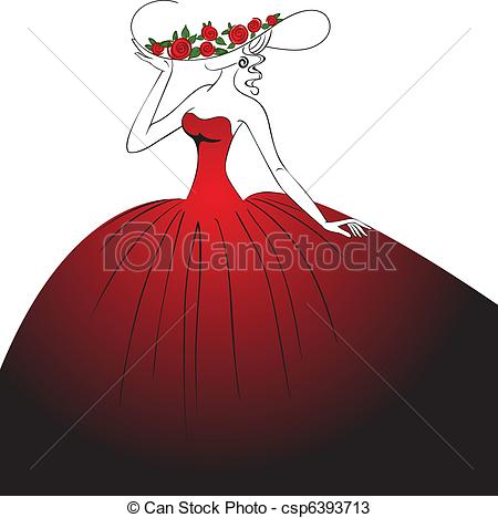 Gown clipart woman dress Clipart Red Red clipart Download