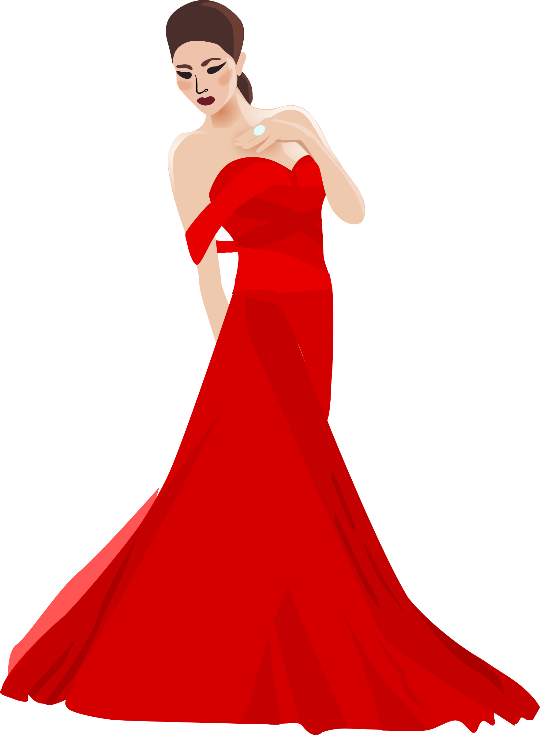Red Dress clipart fancy clothes Chinese Chinese woman woman Clipart