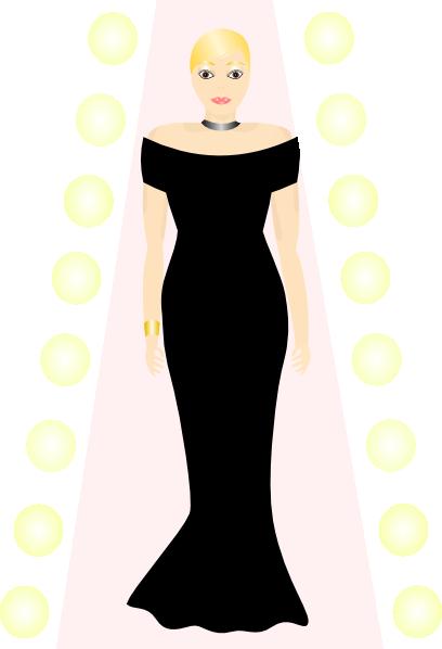 Gown clipart woman dress Com Black vector Download image