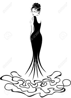 Gown clipart woman dress Silhouette girl by woman silhouette