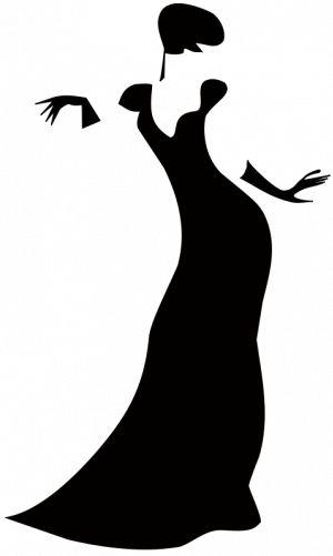 Gown clipart woman dress PublicDomainVectors  women org Silhouette