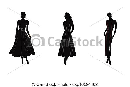 Gown clipart womens dress Vector of gowns of in