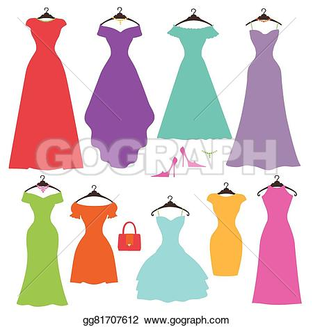 Gown clipart womens dress Of women's silhouette styles summer