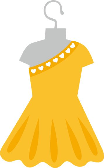 Gown clipart yellow dress Images 299 best CLIPART ROPA