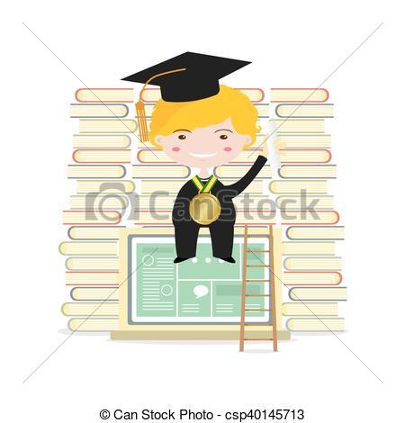 Graduation clipart academic success Art Happy Students Education Concept