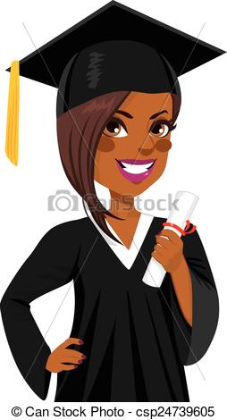 Graduation clipart african american Clipart of African csp24739605 African