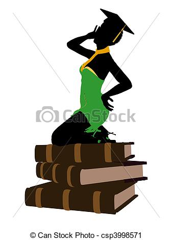 Graduation clipart african american Clipart of African Silhouette African
