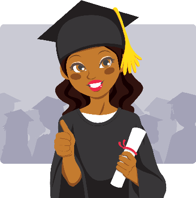 Graduation clipart african american Graduate Clipart The African African