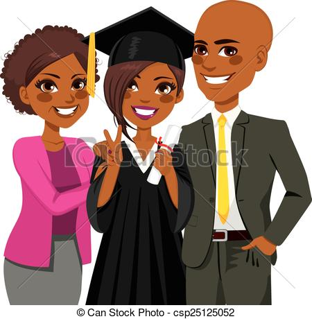 Graduation clipart african american Clipart  African Vector of