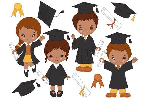 Kids on Graduating Graduating Illustrations