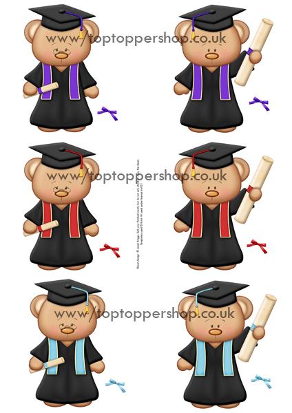 Teddy clipart graduation BEARS Printed Clipart Sheet