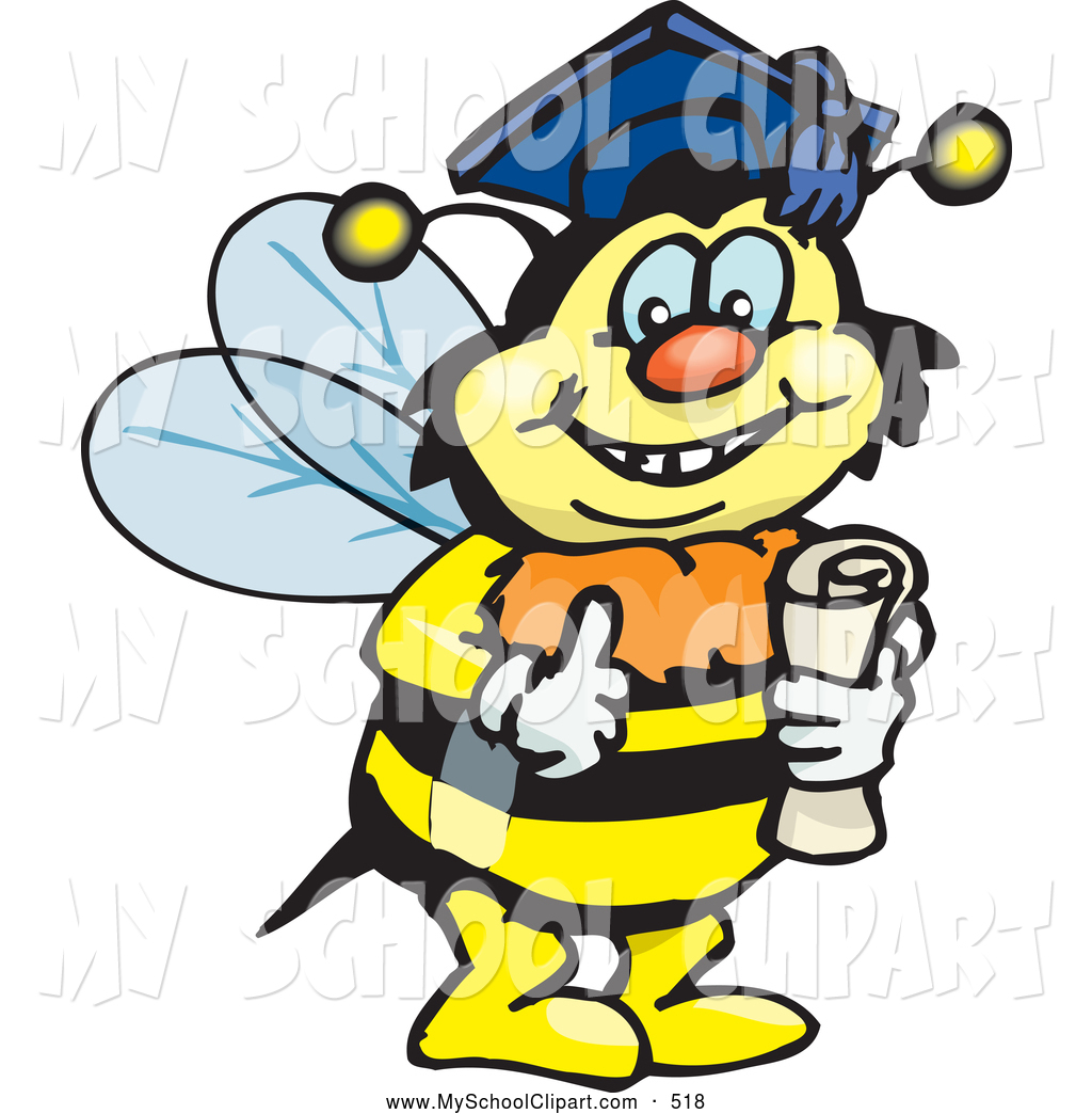 Bee clipart graduation Smart Happy Bumble Character a