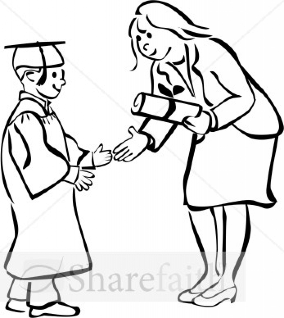 Graduation clipart black and white Party graduation white white clipart