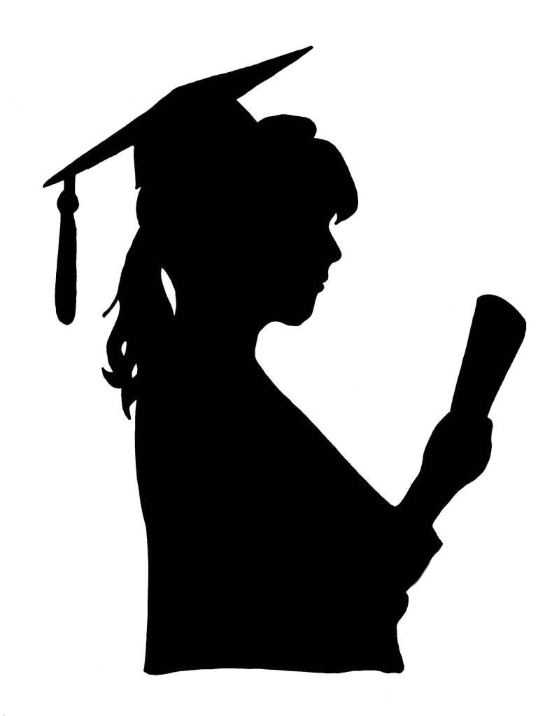 Shadow clipart graduation #4