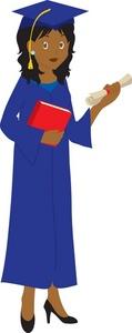 Graduation clipart black woman Clipart cap and Education graduate