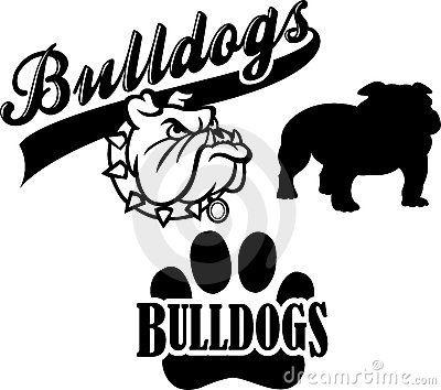 Drawn bulldog black and white Photography Mascot/eps Bulldog fun on