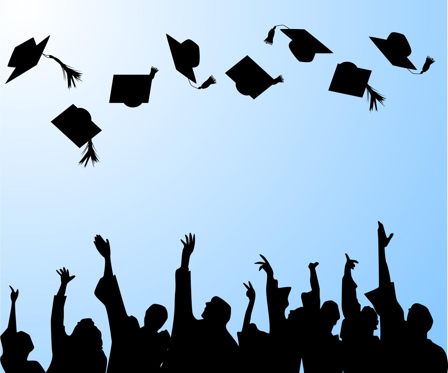 Shadow clipart graduation #9