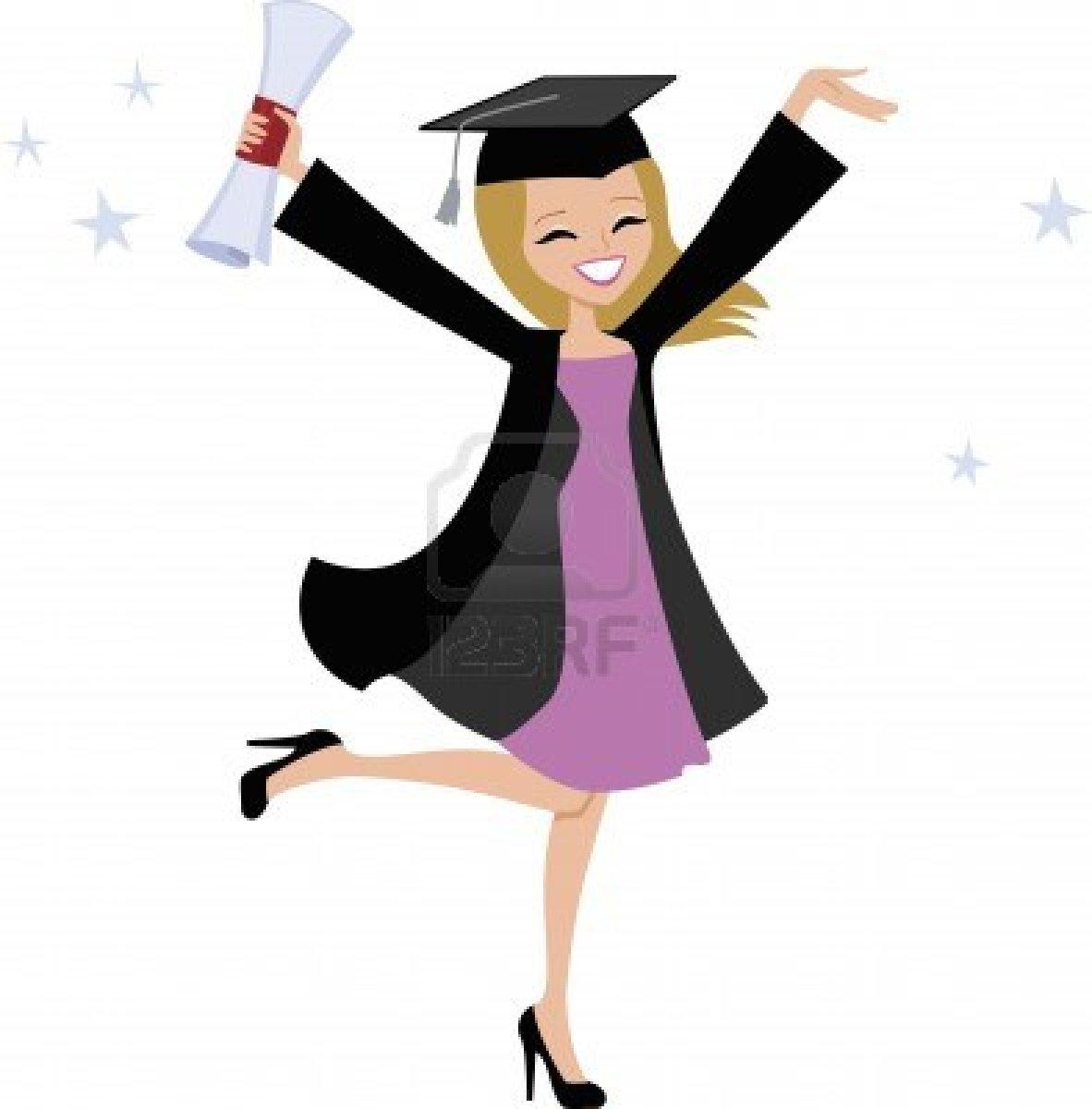 Graduation clipart college graduate Graduation Clip Cartoon Art Cartoon