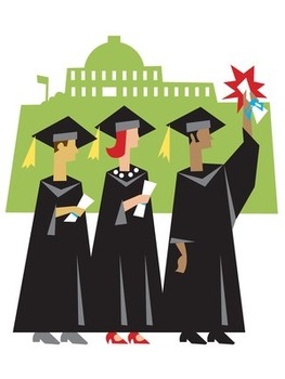 Graduation clipart college student Free  clip student public
