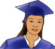 Graduation clipart colorful Clipart Graduation Graphics girl hat