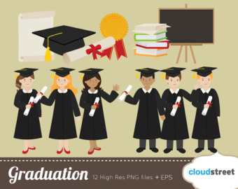 Graduation clipart colorful 20% and graduation personal commercial