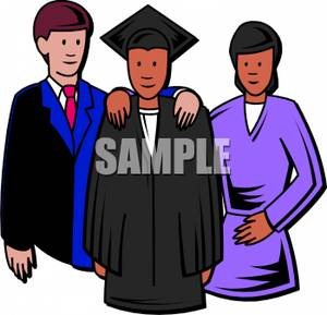 Graduation clipart colorful A with Royalty Posing Their
