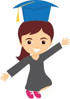Graduation clipart colorful 98 Clipart Size: Graduation celebrating