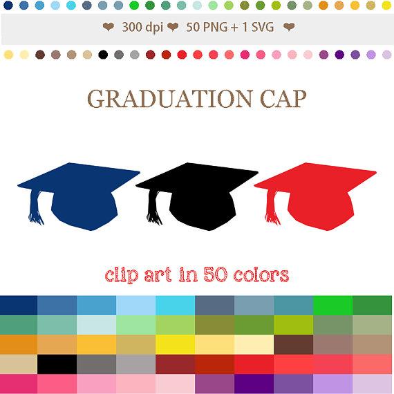 Graduation clipart colorful Graduation 50 Clip CAP Clipart