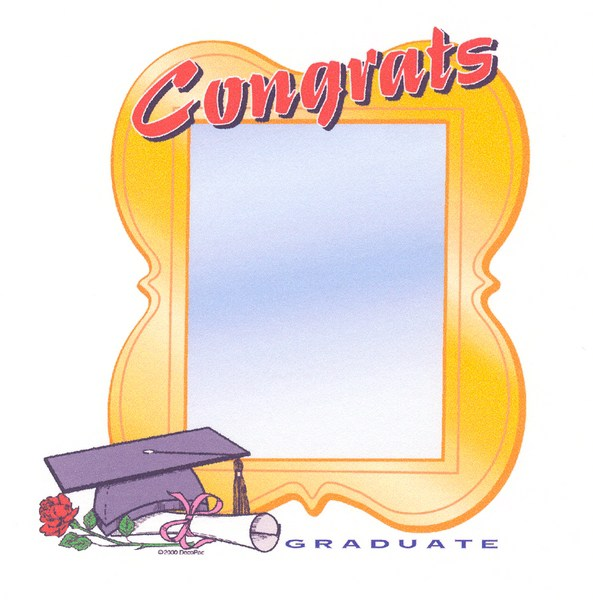 Graduation clipart diploma frame #13
