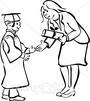 Larger clipart prize giving Black and Clipart Graduation Images