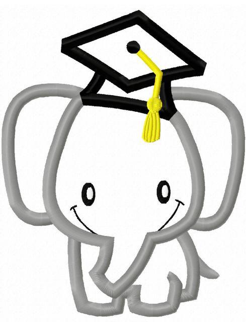 Graduation clipart elephant Graduation Elephant digital a This