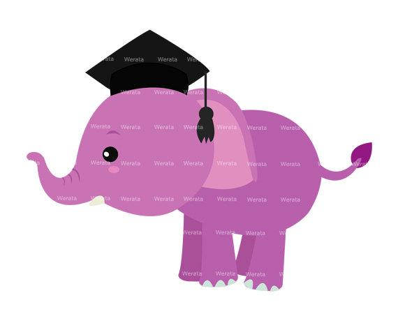 Graduation clipart elephant Art Elephant clip baby Elephant