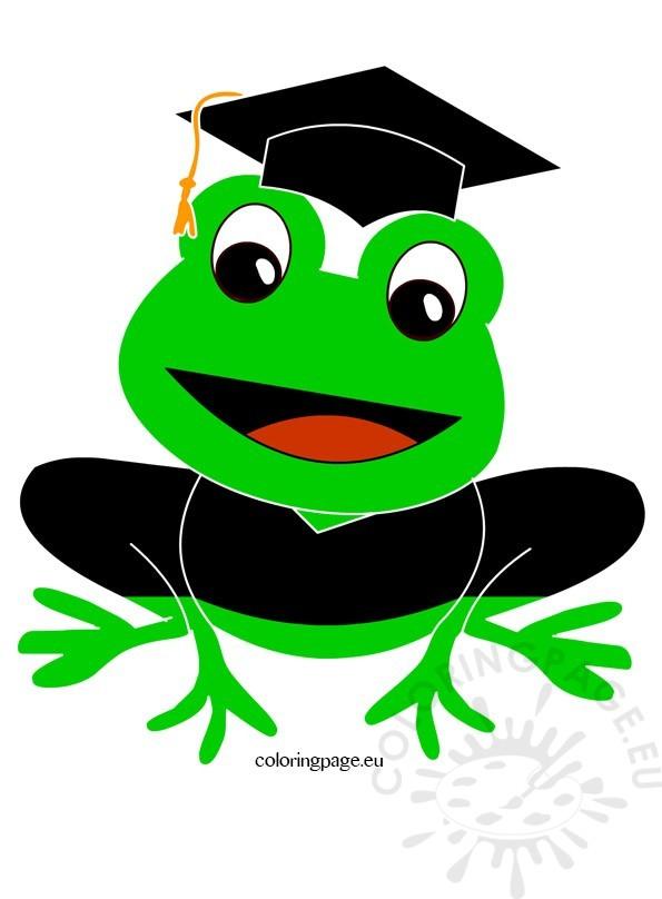 Graduation clipart frog Frog art Share: Coloring clip
