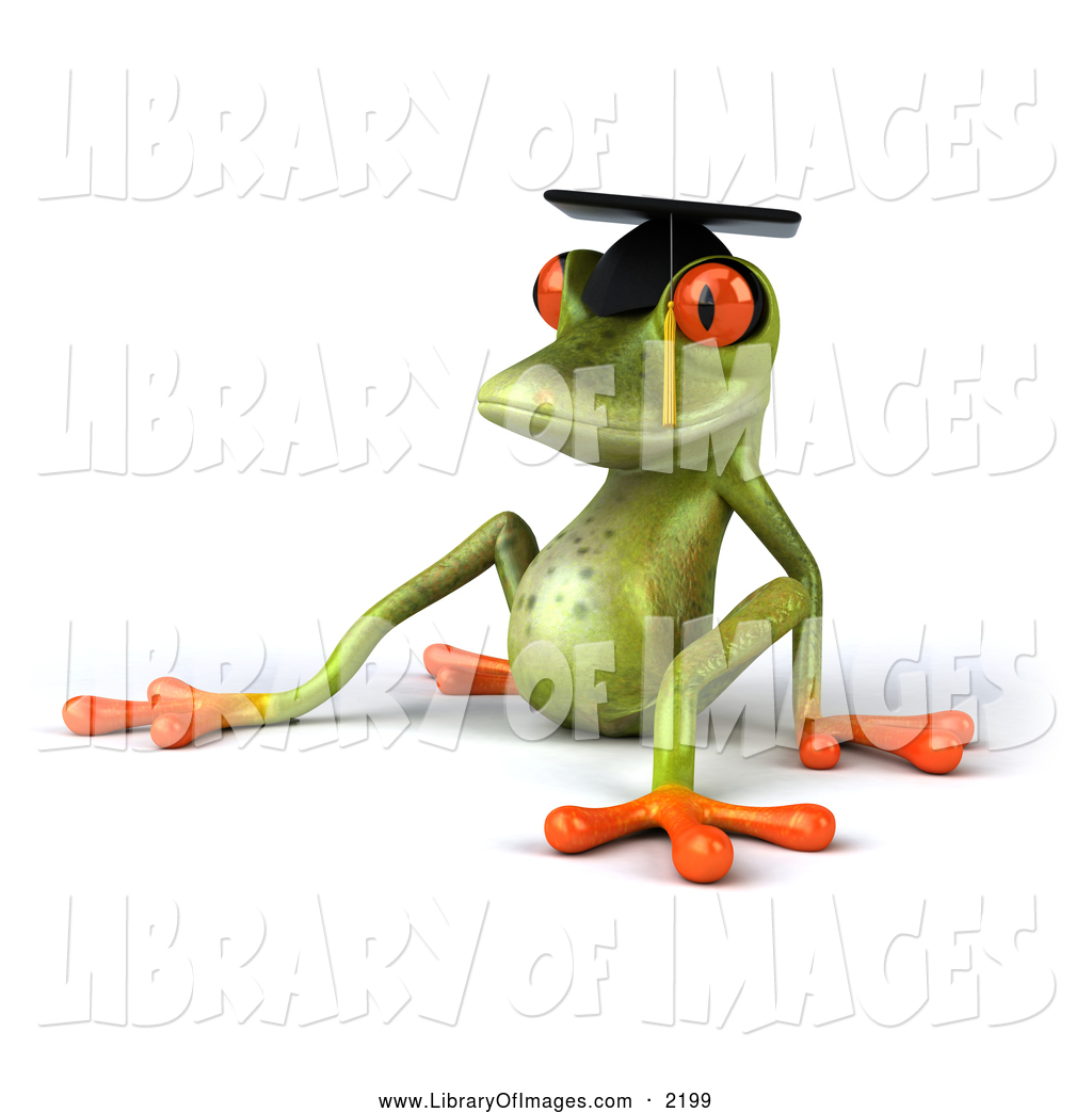 Graduation clipart frog Sitting Royalty 3d Free Frog