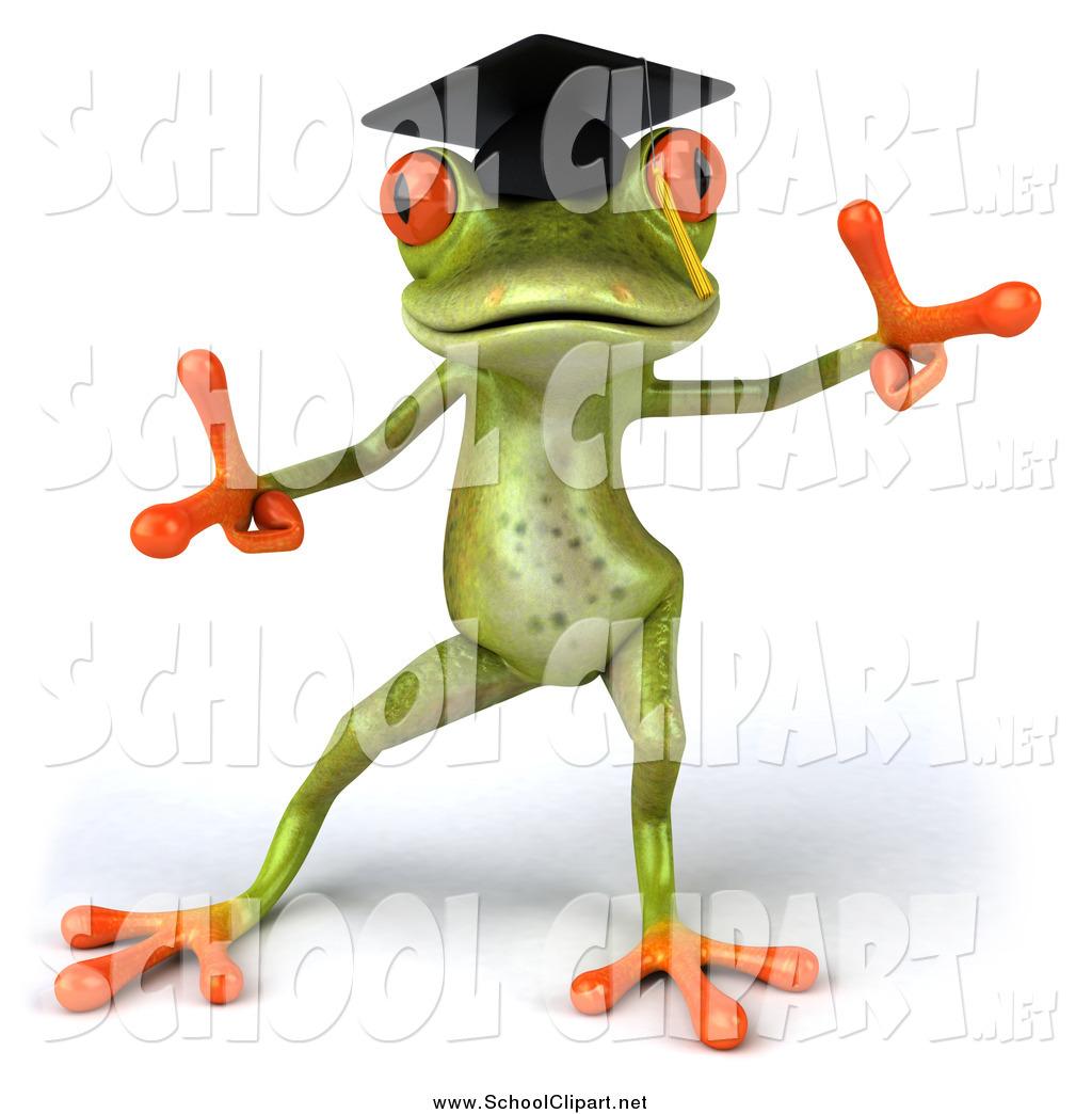 Graduation clipart frog Art 3d 3d Julos Clip