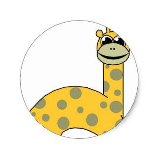 Graduation clipart giraffe Giraffe Zazzle Sticker Classic Craft