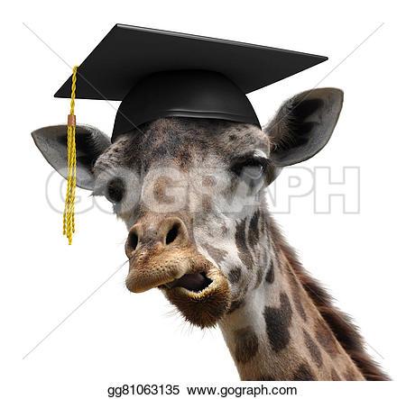 Graduation clipart giraffe Portrait giraffe student giraffe goofy