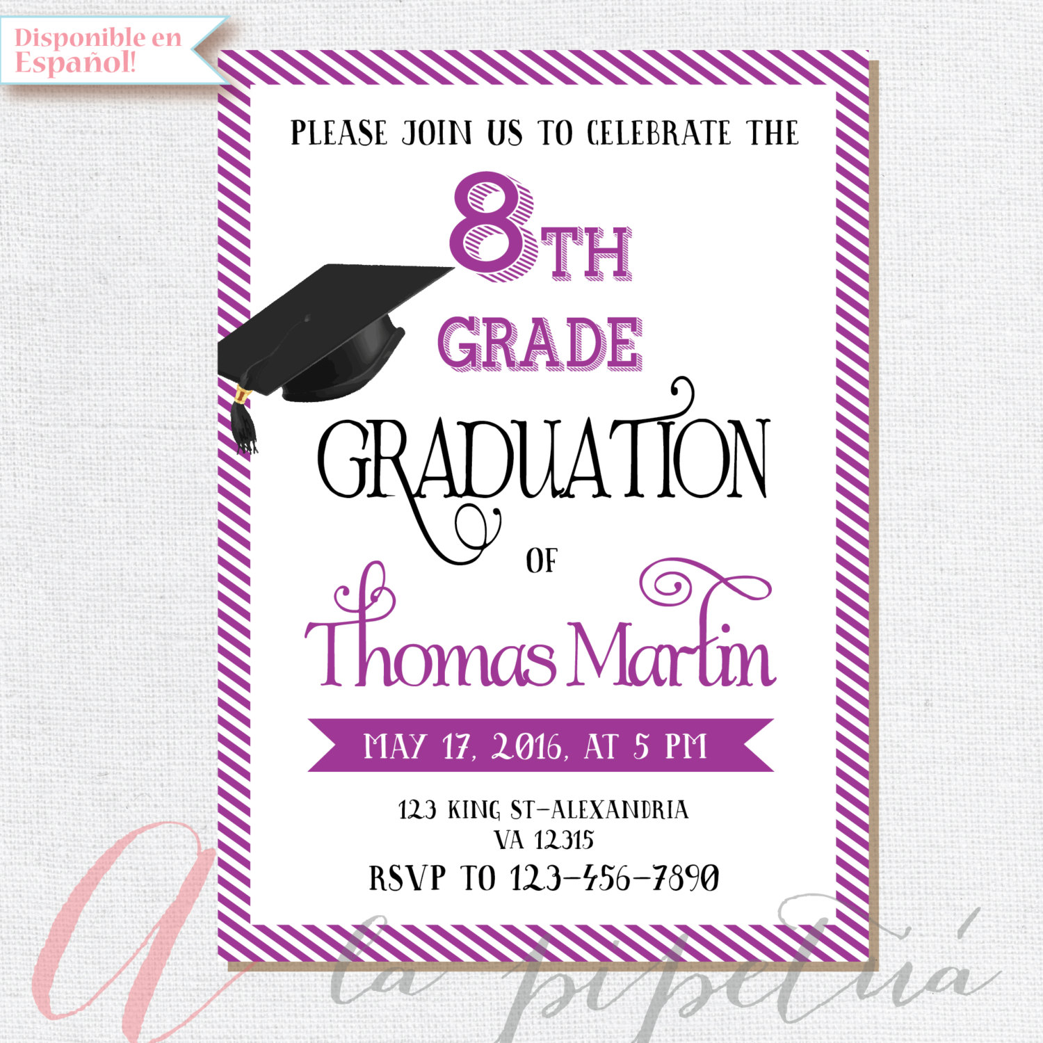 Graduation clipart sad 8th 8th 8th grade invitation