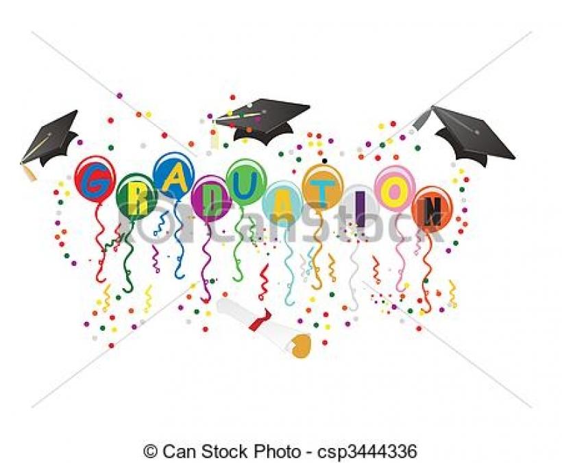 Graduation clipart graduation celebration Clipart stock to graduation