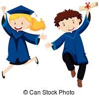 Graduation clipart graduation ceremony Vector  of Vector Graduation