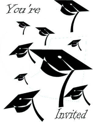 Graduation clipart graduation invitation Invitations Graduate ideas Pinterest Best