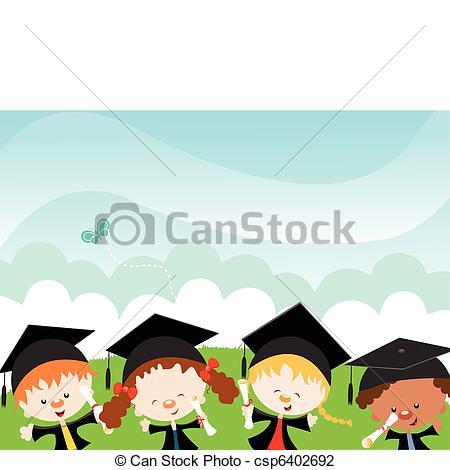 Graduation clipart happy graduation Vector Kids Graduates  Happy