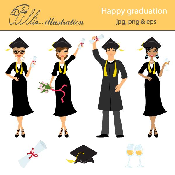 Graduation clipart happy graduation Clipart clipart with cliparts happy