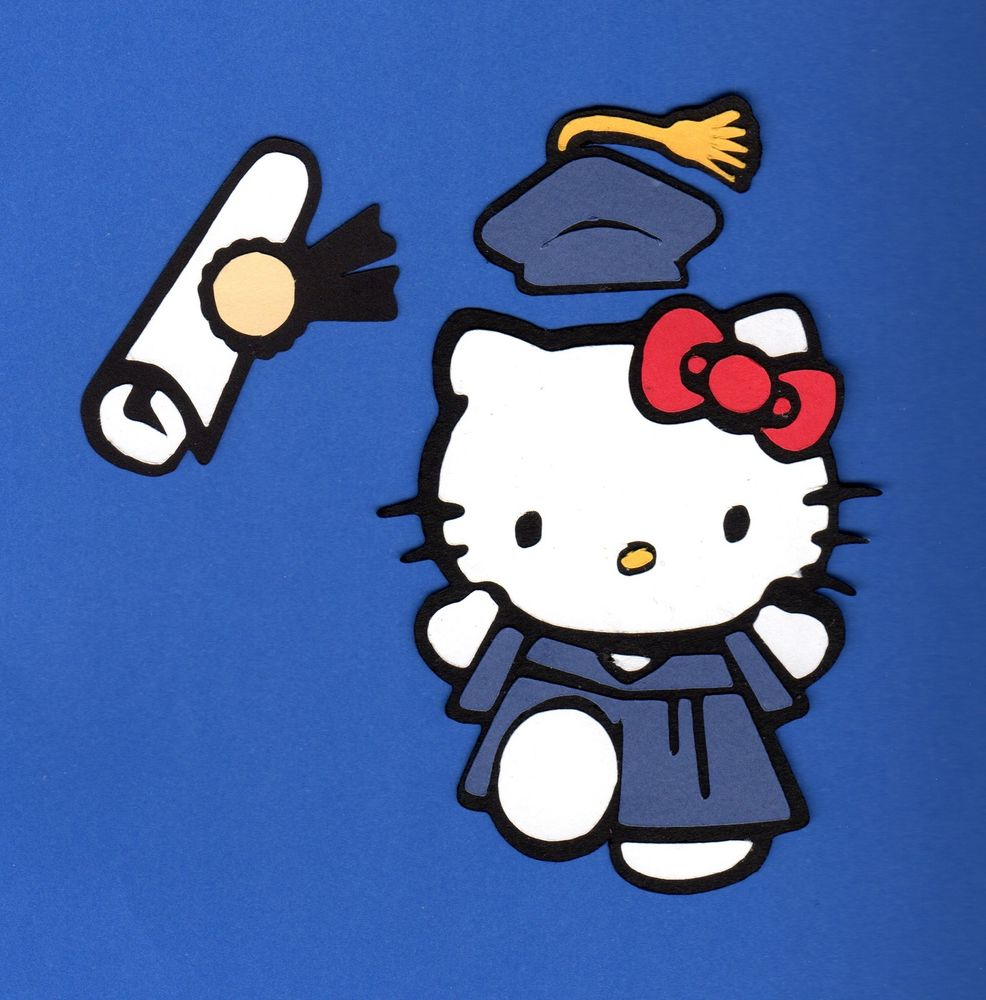 Graduation clipart hello kitty 5 color Kitty Cuts in