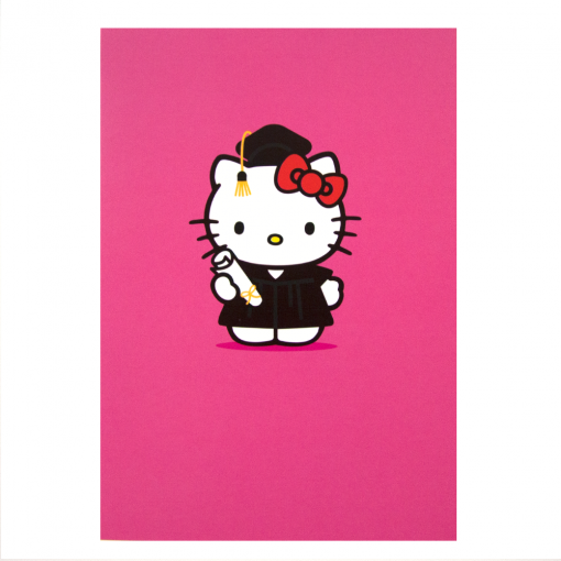 Graduation clipart hello kitty At Greetings Pink Card Graduation