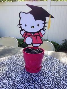 Graduation clipart hello kitty Graduation centerpiece Hello Kitty Graduation