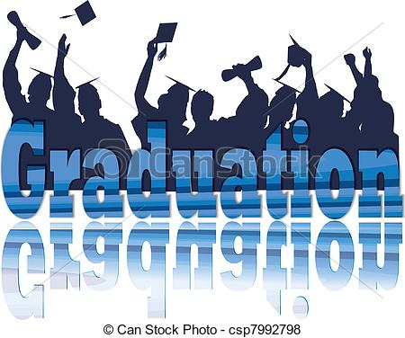 Ceremony clipart team celebration Silhouette Vector in Graduation Graduation