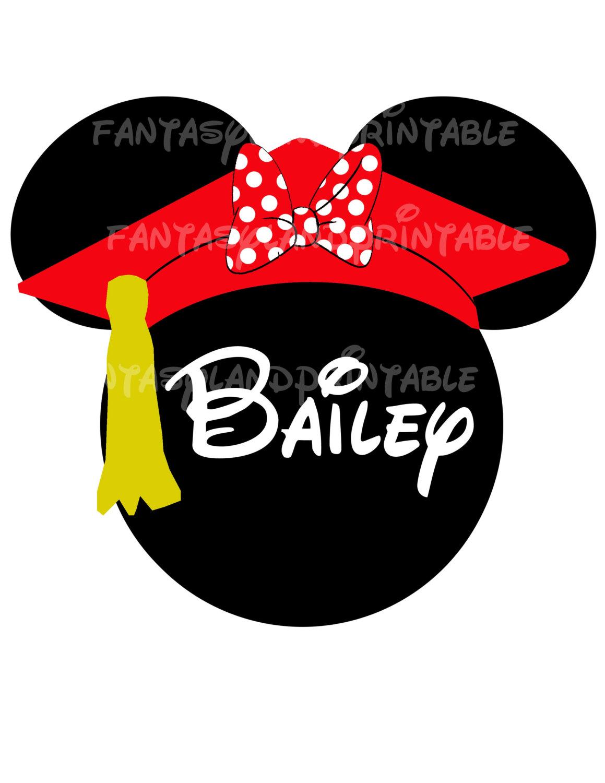 Graduation clipart minnie mouse Graduation Vacation Minnie Hat Printable